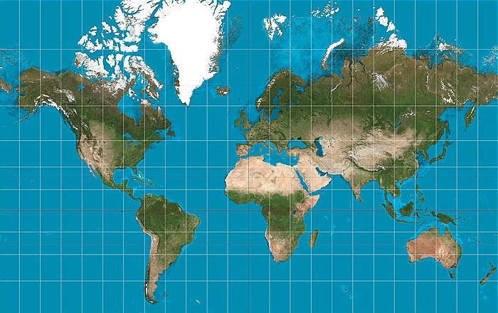 Belgian inventions: Mercator map