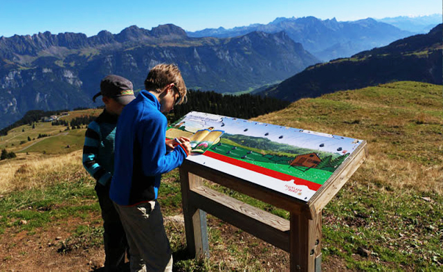 Top 10 theme trails in Switzerland for kids: Flumserberg 'Wild Man' Nature Trail