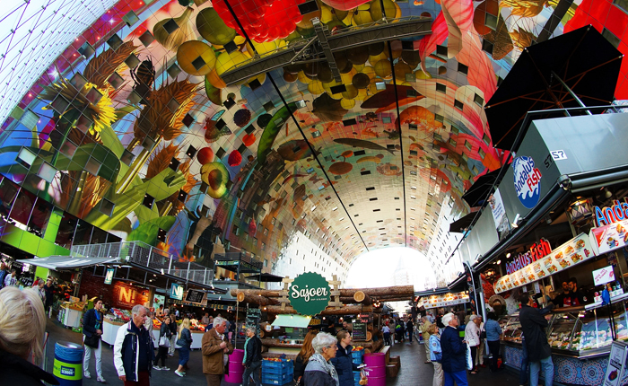 Top 10 places to visit in the Netherlands: Markthal in Rotterdam
