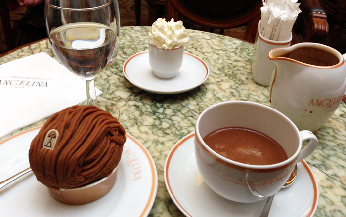 Best French hot chocolate in Paris: Angelina Paris