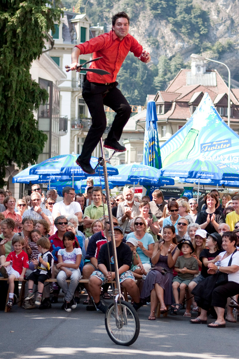 Top festivals in Switzerland: Interlaken International Street Artists Festival