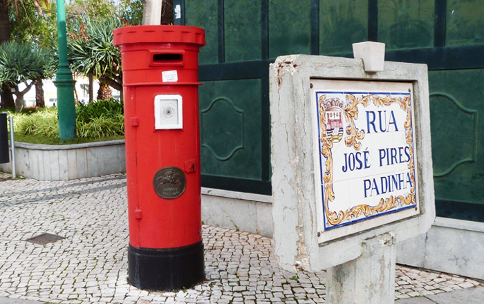 Postage to Portugal: Post Portugal box