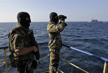 Europe tracks pirates, rebels from near Madrid