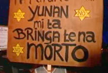 Stars of David in 'Dutch colonialism' protest