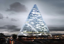 Futuristic pyramid to grace the French capital