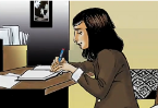 The life of Anne Frank in comic book form