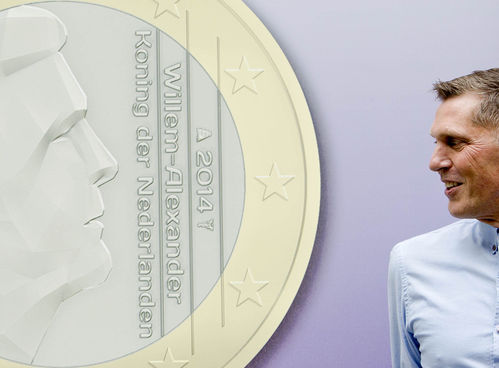 King Willem-Alexander is immortalised on a euro (photo)