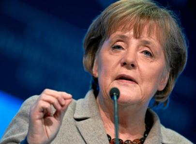 Merkel calls anti-euro party success a 'protest vote'
