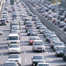 Heavy congestion on the roads due to strike
