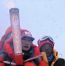 Olympic torch reaches Everest summit