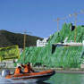 Greenpeace drapes canvas over illegal Spanish hotel